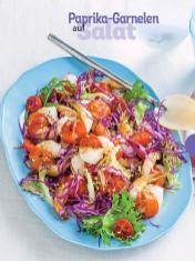Rezept - Paprika-Garnelen auf Salat - Simply Kochen Sonderheft - Frühlingssalate