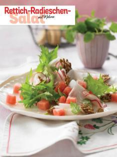 Rezept - Rettich-Radieschen-Salat mit Melone - Simply Kochen Sonderheft - Frühlingssalate