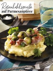 Rezept - Rosenkohlspieße auf Parmesanpueree - Simply Kreativ Extra – Leckere Ideen für den Thermomix® 02/2019