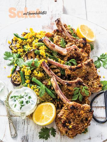 Rezept - Salat mit Lammkotelettes - Simply Kochen Sonderheft - Frühlingssalate