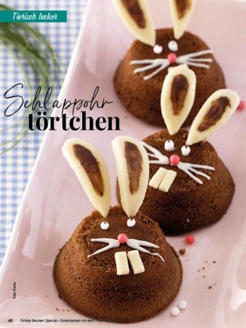 Rezept - Schlappohr-Törtchen - Simply Backen Special – Osterbacken mit dem Thermomix® 02/2019