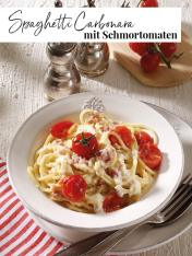 Rezept - Spaghetti-Carbonara mit Schmortomaten - Simply Kreativ Extra – Leckere Ideen für den Thermomix® 02/2019