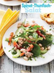 Rezept - Spinat-Thunfisch-Salat - Simply Kochen Sonderheft - Frühlingssalate