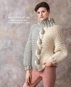 Strickanleitung - Das Glück ist mit den Mutigen - Zweifarbiger Pullover - Designer Knitting 02/2019