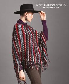 Strickanleitung - In den Farbtopf gefallen - Fransen-Poncho - Designer Knitting 02/2019