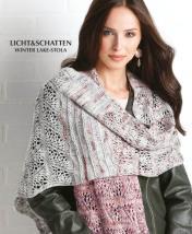Strickanleitung - Licht & Schatten - Winter-Lake-Stola - Designer Knitting 02/2019