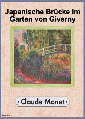 Japanische Brücke im Garten von Giverny