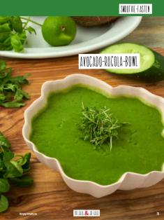 Rezept - Avocado-Rucola-Bowl - Simply Kochen Sonderheft Basenfasten mit Andrea Sokol