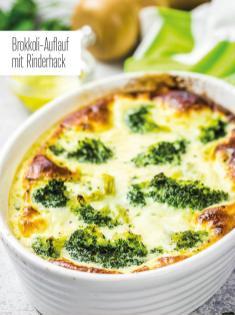 Rezept - Brokkoli-Auflauf mit Rinderhack - Bewusst Low Carb