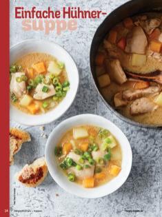 Rezept - Einfache Hühner-Suppe - Simply Kochen Sonderheft - Suppen und Eintöpfe - 01/2019