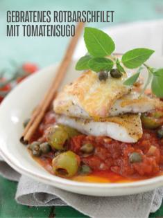Rezept - Gebratenes Rotbarschfilet mit Tomatensugo - Bewusst Low Carb Sonderheft Keto