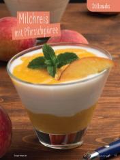 Rezept - Milchreis mit Pfirsichpüree - Simply Kochen Sonderheft - Ernährung in der Schwangerschaft - mit Nina Kämpf von Mamaaempf