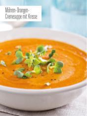 Rezept - Möhren-Orangen-Cremesuppe mit Kresse - Bewusst Low Carb