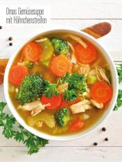 Rezept - Omas Gemüsesuppe mit Hähnchenstreifen - Bewusst Low Carb