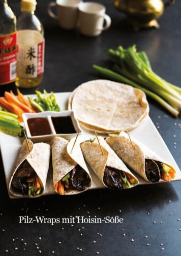 Rezept - Pilz-Wraps mit Hoisin-Soße - Healthy Vegan 03/2019