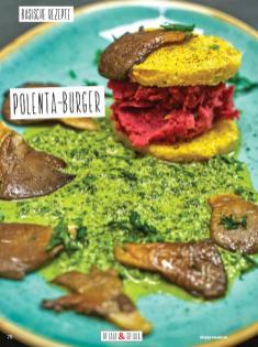 Rezept - Polenta-Burger - Simply Kochen Sonderheft Basenfasten mit Andrea Sokol