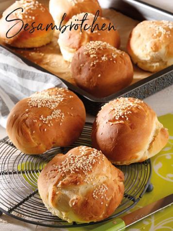 Rezept - Sesambrötchen - Simply Backen Sonderheft – Brote und Brötchen mit dem Thermomix® 02/2019