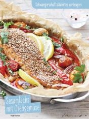 Rezept - Sesamlachs mit Ofengemüse - Simply Kochen Sonderheft - Ernährung in der Schwangerschaft - mit Nina Kämpf von Mamaaempf