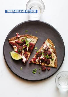 Rezept - Tahina-Pizza mit Rote Bete - Healthy Vegan 03/2019