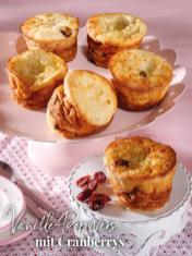 Rezept - Vanille-Popovers mit Cranberrys - Simply Backen Sonderheft – Brote und Brötchen mit dem Thermomix® 02/2019