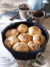 Rezept - Vollkornbrötchen aus der Springform - Simply Backen Sonderheft – Brote und Brötchen mit dem Thermomix® 02/2019