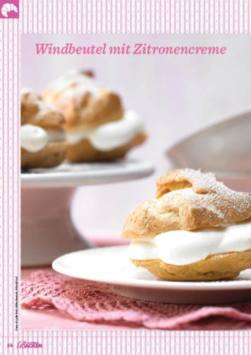 Rezept - Windbeutel mit Zitronencreme - Das große Backen 03/2019