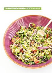 Rezept - Zucchini-Erbsen-Bohnen-Salat mit Miso-Dressing - Healthy Vegan 03/2019