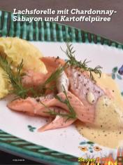 Rezept - Lachsforelle mit Chardonnay-Sabayon und Kartoffelpüree - Simply Kochen Sonderheft Besser Grillen mit den Grillweltmeisten