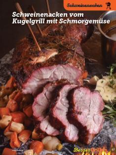 Rezept - Schweinenacken vom Kugelgrill mit Schmorgemüse - Simply Kochen Sonderheft Besser Grillen mit den Grillweltmeisten