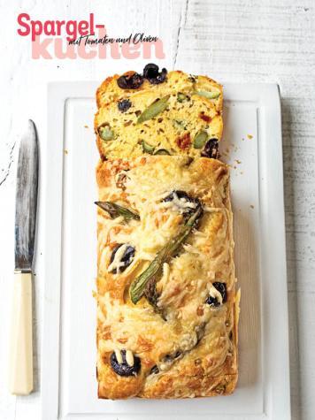 Rezept - Spargel-Kuchen mit Tomaten und Oliven - Simply Kochen Special Spargel