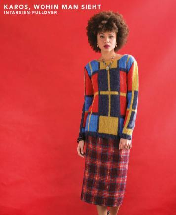 Strickanleitung - Karos wohin man sieht - Intarsien-Pullover - Designer Knitting - 03/2019