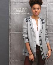 Strickanleitung - Modisches Mosaik - Cardigan mit V-Ausschnitt - Designer Knitting - 03/2019
