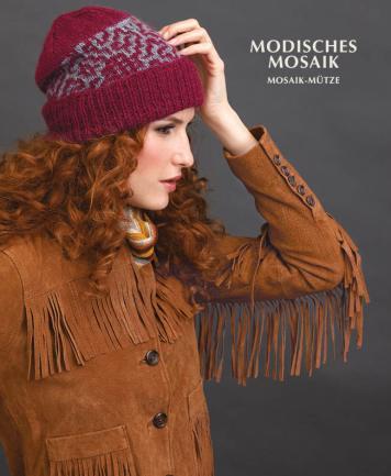 Strickanleitung - Modisches Mosaik - Mosaik-Mütze - Designer Knitting - 03/2019