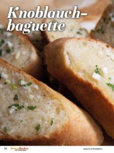 Rezept - Knoblauch–Baguette - Simply Backen Sonderheft Besser Backen mit Tommy Weinz