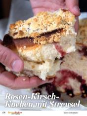 Rezept - Rosen-Kirsch-Kuchen mit Streusel - Simply Backen Sonderheft Besser Backen mit Tommy Weinz
