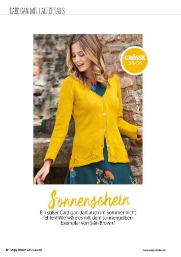 Strickanleitung - Sonnenschein - Simply Stricken - 04/2019