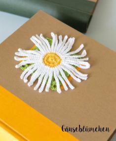 Häkelanleitung - Gänsebluemchen - Mini Granny-Blumen häkeln Vol. 9