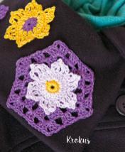 Häkelanleitung - Krokus - Mini Granny-Blumen häkeln Vol. 9