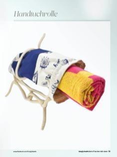 Nähanleitung - Handtuchrolle - Simply Kreativ Best of Taschen-Näh-Ideen
