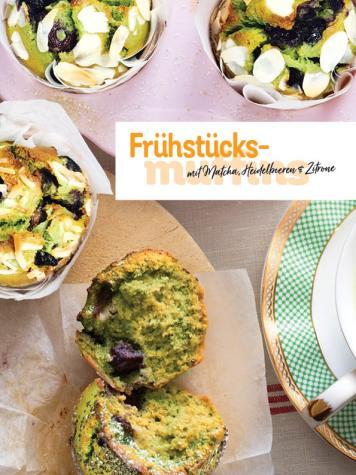 Rezept - Frühstücksmuffins mit Matcha, Heidelbeeren & Zitrone - Simply Kochen Sonderheft Frühstücksrezepte