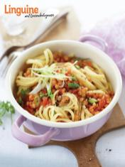 Rezept - Linguine mit Linsenbolognese - Simply Kochen Sonderheft Nudeln