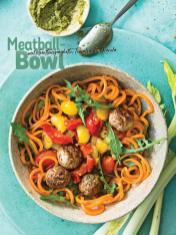 Rezept - Meatball-Bowl mit Karottenspaghetti, Tomaten und Rucola - Simply Kochen Sonderheft Nudeln
