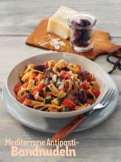 Rezept - Mediterrane Antipasti-Bandnudeln - Simply Kochen Sonderheft Nudeln