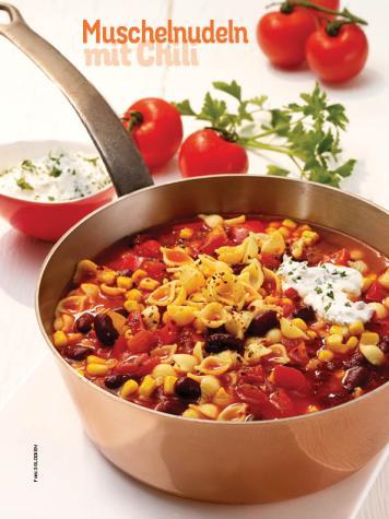Rezept - Muschelnudeln mit Chili - Simply Kochen Sonderheft Nudeln
