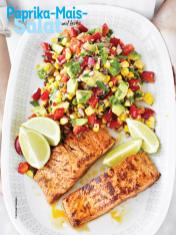 Rezept - Paprika-Mais-Salat mit Lachs - Simply Kochen Sonderheft Sommer-Salate