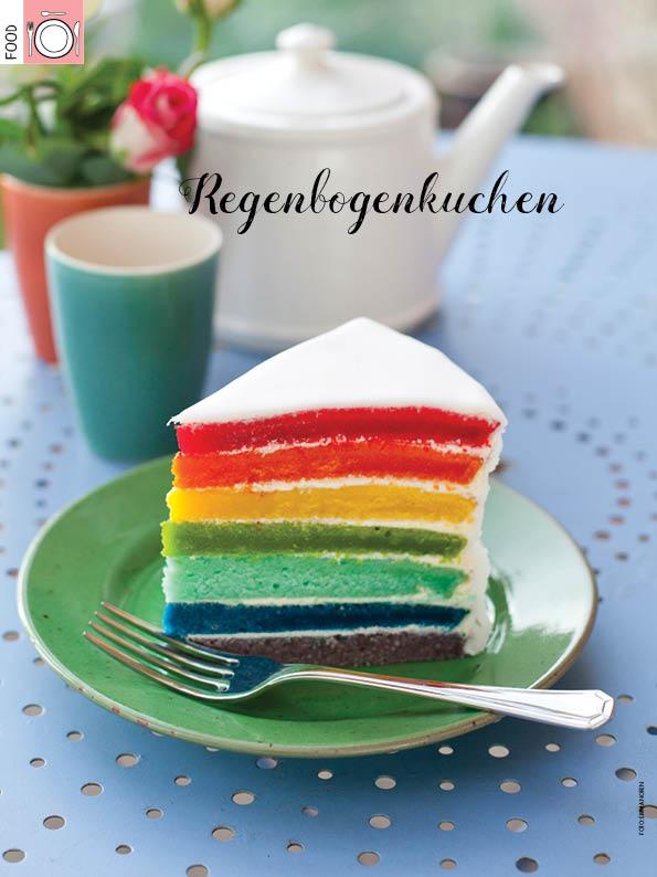 Rezept - Regenbogenkuchen - Simply Kreativ Heft 03/2019