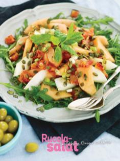 Rezept - Rucola-Salat mit Melone, Orangen und Kernen - Simply Kochen Sonderheft Sommer-Salate