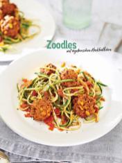 Rezept - Zoodles mit vegetarischen Hackbällchen - Simply Kochen Sonderheft Nudeln