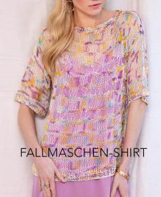 Strickanleitung - Fallmaschen-Shirt - Designer Knitting 04/2019