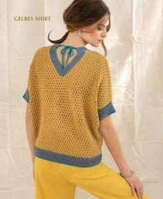 Strickanleitung - Gelbes Shirt - Designer Knitting 04/2019